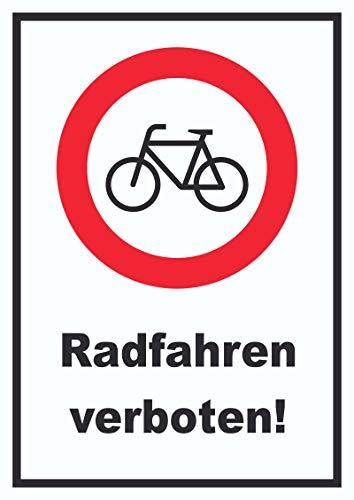 HB-Druck Radfahren verboten Schild Keine Fahrräder A4 (210x297mm)