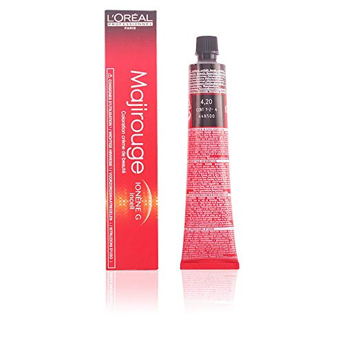 L'Oréal Majirouge 4,20 Mittelbraun Intensives Violett, 1er Pack (1 x 50 ml)