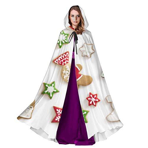 Yushg Conjunto de Lindas Capas con Capucha de Galleta de Jengibre para Mujeres Capa con Capucha para Mujer 59 Pulgadas para Navidad Disfraces de Halloween Cosplay