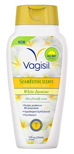 Vagisil Scentsitive Scents Daily Intimate Wash White Jasmine - 12 oz, Pack of 6