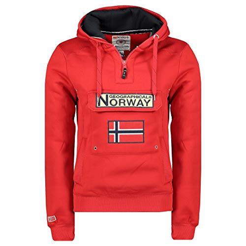 Geographical Norway Sudadera DE Hombre GYMCLASS Rojo S