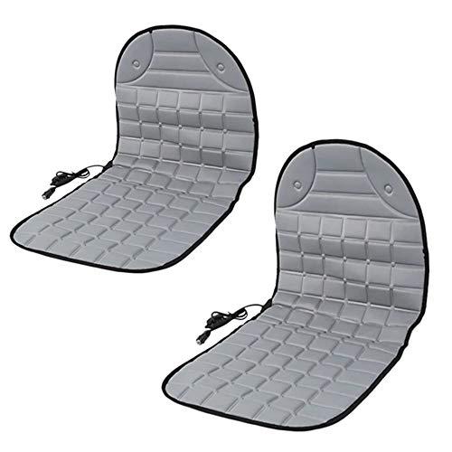Autositzheizung, 2 Stück, 12 V, Autositz-Heizkissen, Winterwärmer, Kissenbezug mit 3 Stufenschalter