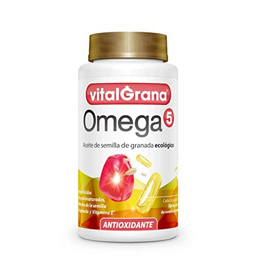 Omega 5 Kapseln/ Granatapfelsamenöl/ Nahrungsergänzungsmittel /pflanzlich/ 60 Kapseln