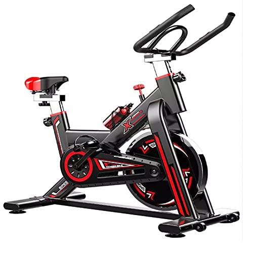 Indoor Spinning Cyclette con Volano da 6kg, Cyclette Professionale Fitness in Bicicletta con App Bluetooth per Pulsometro, Resistenza Variabile, Regolabile in Altezza, Indoor Bici da Fitness