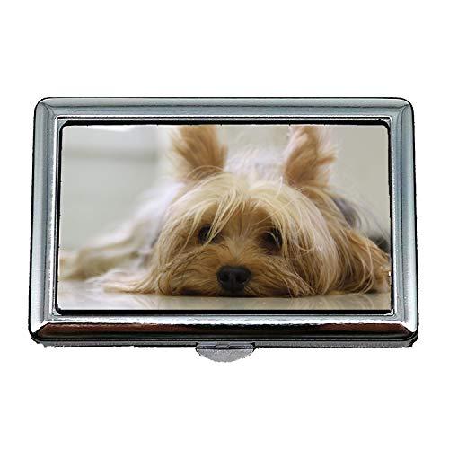 Zigarettenetui/Box, Yorkshire Terrier Hund Yorkie Terrier Haustier Canine, Visitenkartenetui Visitenkartenetui Edelstahl