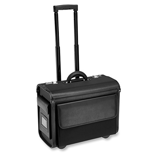 "ALL-STATE LEGAL Nylon Litigation Bag, Rolling Bag, Catalog Case, Briefcase, 18""L x 14""H x 9"" W, Fits Laptop & Legal/Letter Size Files, Retractable Handle, Combination Lock, 1 EA"