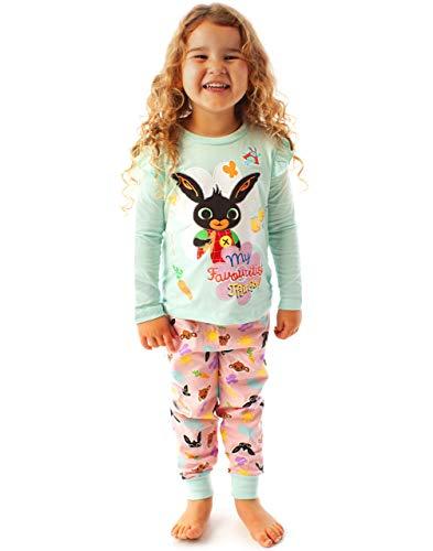 Bing Bunny Pijama Sula Pijama de Chicas con Manga Larga con Purpurina
