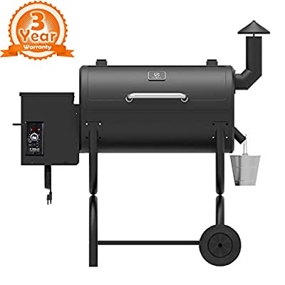 Z GRILLS Wood Pellet Grill & Smoker 6 in 1 BBQ Grill Auto Temperature Control