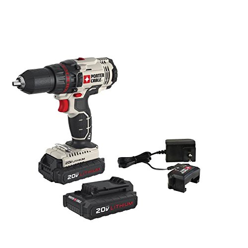 PORTER-CABLE 20V MAX Cordless Drill/Driver, 1/2-Inch, Tool Only (PCC601LB)
