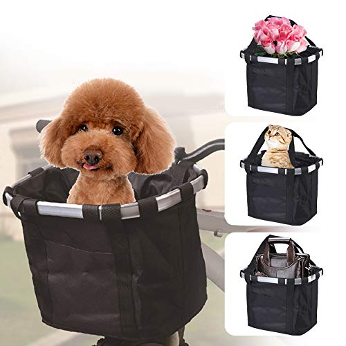 Grneric Bike Basket Bicycle Dog Carrier - Bike Front Waterproof Canvas Bag...