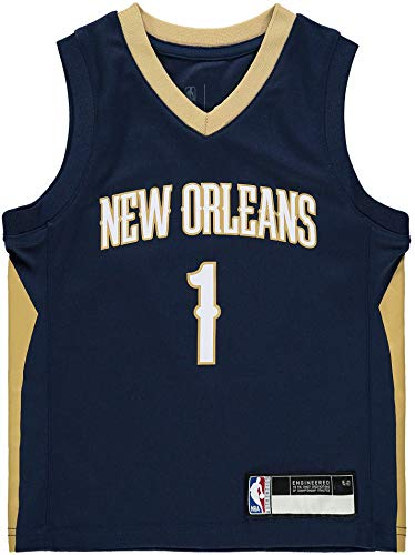NBA Kids 4-7 Official Name and Number Replica Home Alternate Road Player Jersey (7, Zion Williamson New Orleans Pelicans Navy Icon Edition)