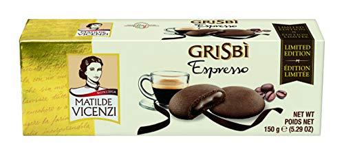 Matilde Vicenzi Grisbi Espresso - Italienisches Mürbeteiggebäckmit samtiger Cremefüllung, 14er Pack (14 x 150 g)  4454