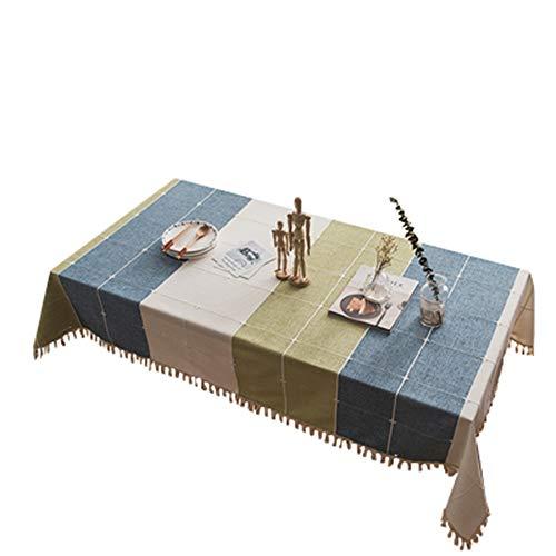 MOCHENG Nappe de Cuisine rectangulaire Motif Rayures, b, 55.12X70.87 inch