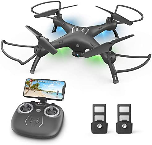 DronewithCameraforKids/Adults/Beginners–1080PHDDrones for Adults, with120°Wide-Angle CameraDrone, girls / boys gift, Safe Design & Easy to Control with Remote/APP/Voice, 18 mins Fight Time
