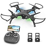 Drone with Camera for Kids /Adults /Beginners - 1080P HD Drones for Adults, 120°Wide-Angle Camera Drone, Safe Design & Easy to Control with Remote/APP/Voice, 18 mins Fight Time, Ideal Girls /Boys Gift