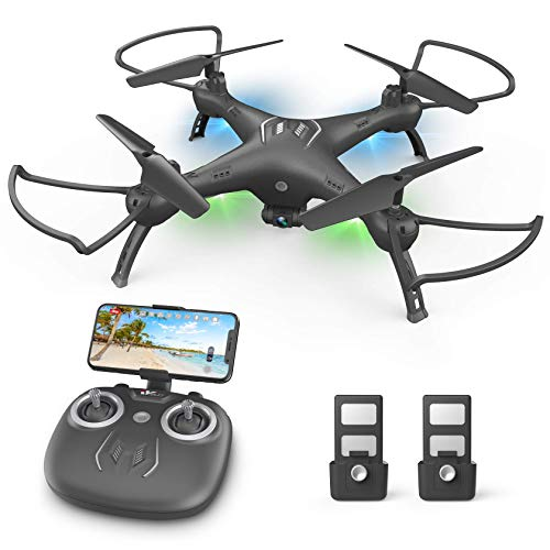 DronewithCameraforKids/Adults/Beginners-1080PHDDrones for Adults , with120° Wide-Angle CameraDrone , Safe Design & Easy to Control with Remote/APP/Voice, 18 mins Fight Time, Ideal for gifts