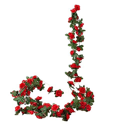 JONJUMP Guirnalda de flores artificiales de 250 cm para boda, decoración de la habitación del hogar, jardín, arco de bricolaje planta falso vid