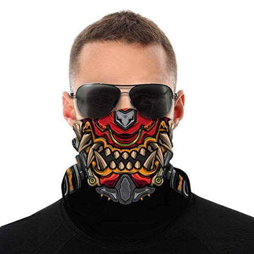 Neck Gaiter Mask Japanese Hannya Oni Breathable Headwear Summer Cooling Bandana Scarf Face Mask Made In USA