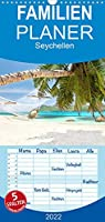 Seychellen - Familienplaner hoch (Wandkalender 2022 , 21 cm x 45 cm, hoch): Seychellen - Inselparadies im Indischen Ozean (Monatskalender, 14 Seiten )