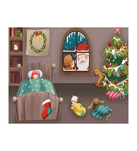 Puzzle 1000 Piezas para Adultos,Cartoon Navidad Santa,El Rompecabezas De Madera, Rompecabezas Juegos para La Familia, Brain Challenge Rompecabezas para Niños, Juegos De Matriz Subordinada, Inteligen
