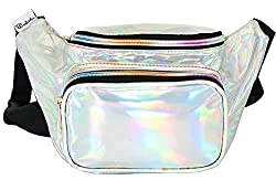 Water Resistant Shiny Neon Fanny Bag for Women