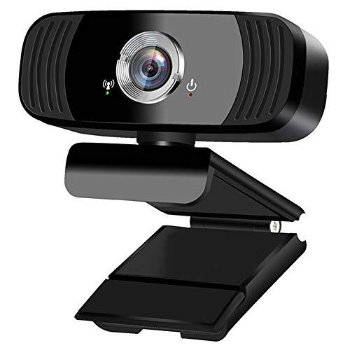 Suchewha Webcam 1080p Full HD con Microfono, Stereo Riduzione del Rumore PC Webcam, USB Web Camera Fotocamera PC per Video dal Vivo, Conferenze, Lezioni Online e Giochi