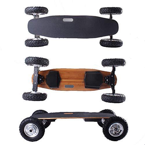 WEHOLY Off Road Pro Elektro-Skateboard, 4-Rad-Longboard, Ferngesteuerter Elektroroller, Einstellbarer 2-Gang-Modus, 800 W * 2 Doppelmotor, Höchstgeschwindigkeit 40 km/h