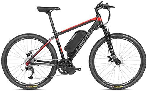 Bicicleta eléctrica de nieve, Bicicletas eléctricas para adultos 350W 48V 10AH Batería de litio E5 Frame de aleación de aluminio, E-bicicleta con transmisión profesional de 9 velocidades para el cicli