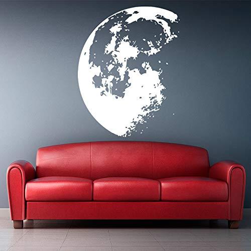 Tianpengyuanshuai Weltraum Moon Wandaufkleber Vinyl Wandtattoo Abnehmbare Wandkunst-36X43cm