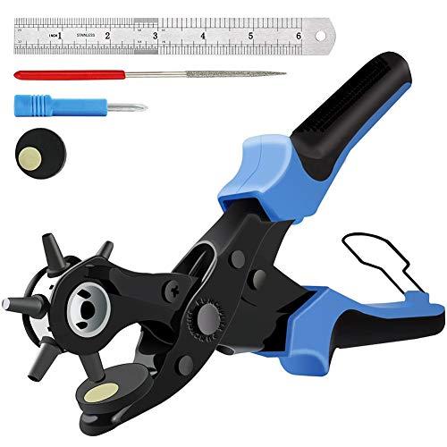 Alicates Sacabocado Agujero para Cinturones y Cuero, Sacador para Cuero Piel Cinturones Correas, Punzones de 2/2,5/3 /3,5/4 /4,5 mm