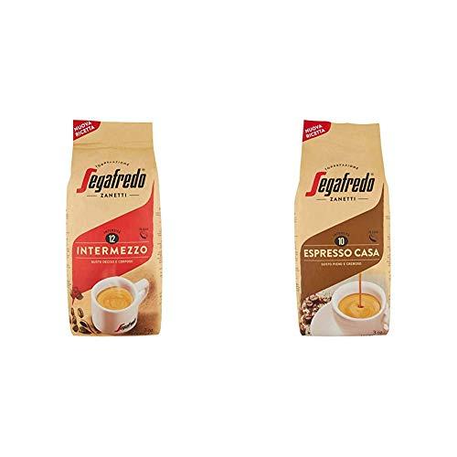 Segafredo - Caffè in Grani, Linea Le Classiche, Intermezzo ed Espresso Casa, Gusto Pieno - 2kg