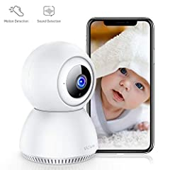 [Real 1080P Full HD& Perfect Night Vision] -With 1920*1080 resolution, no distortion, Victure home security camera displays an correct various angle and clear broad field of view for you. 850nm IR infrared LEDS technology extend the viewing distance ...