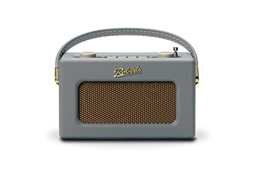 Roberts Revival Uno Compact DAB/DAB+/FM Radio Digitale con Allarme, Grigio Tortora