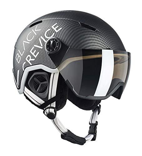 Black Crevice Casco de esquí Unisex para Adultos Vail con Visera, Negro...