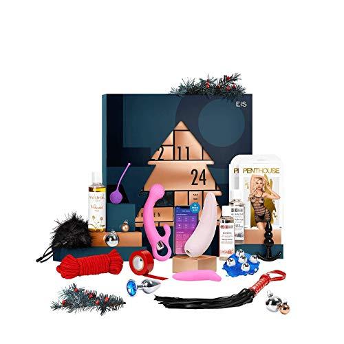 EIS Deluxe erotischer Adventskalender für Paare 2020, 24 sinnliche Sex Geschenke inkl. Satisfyer App Toy, Erotik Adventskalender Warenwert 650 €