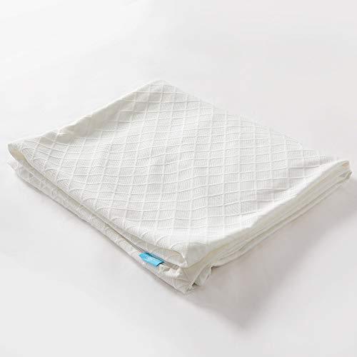 RECCI Matratzen Topper Bezug, 100% Bambus Atmungsaktiv Topper Schutz, Anti-Allergie und gegen Milben, Anpassend für 4-6 cm Höhe Matratzenauflagen [180 x 200]