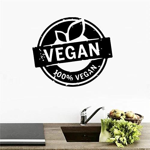 cooldeerydm Plantaardige Natuurlijke Flora Voedsel Gezond Leven Muur Art Decal Home Decor, Vegan Power Vinyl Muursticker Keuken Room Decor