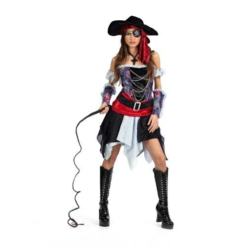 Limit Sport - Disfraz de pirata corsaria para adultos, talla L (MA227)