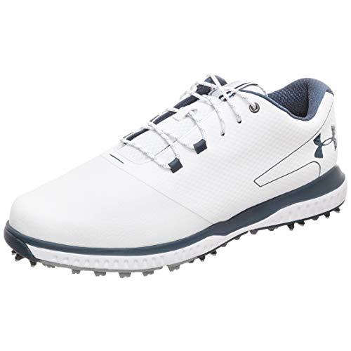 Under Armour Fade RST 2 E, Zapatos de Golf para Hombre, Blanco (White/Steel/Academy 100), 44.5 EU