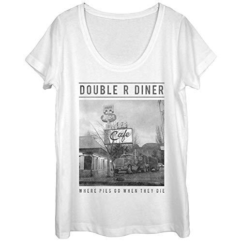 Twin Peaks Women's Double R Diner Pie Heaven White Scoop Neck T-Shirt