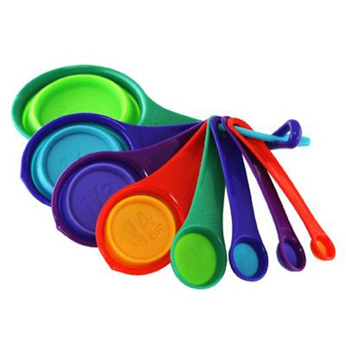 ROBINSON HOME PRODUCTS 41071 8 Piece Squish Cups/Spoon, Multicolor