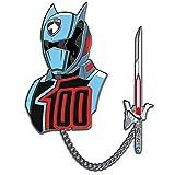 Lineage Studios Power Rangers Space Patrol Delta Shadow Ranger Lapel Pin Set