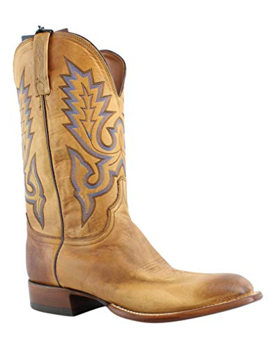 Lucchese Mens Kd6505.Wf Tan Burnished Cowboy, Western Boots Size 10