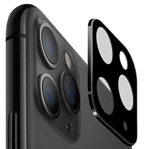 [2 Pack] iPhone 11 Pro (5.8') / Pro Max (6.5') Screen Protector Camera Lens Protector (2019), Ultra-Thin High Definition 9H Hardness 2.5D Bubble-Free Anti-Scratch Clear Camera Protector (Black)