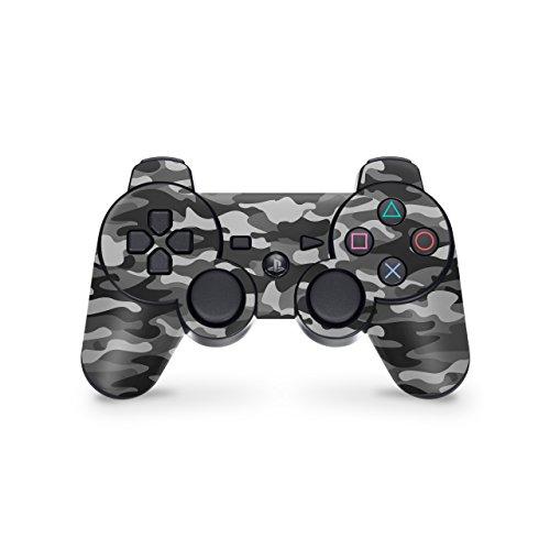 Skins4u Controller Skin Designfolie Aufkleber kompatibel mit Playstation 3 PS3 Urban Camo