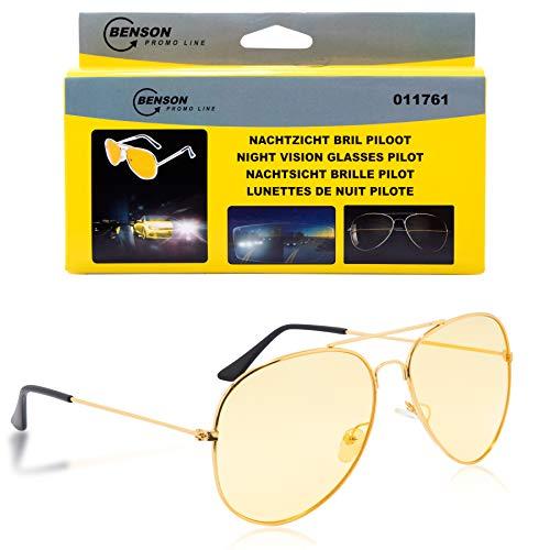 Halal-Wear Gafas de visión nocturna para coche, unisex, polarizadas, para conducción, estrechas y amarillas