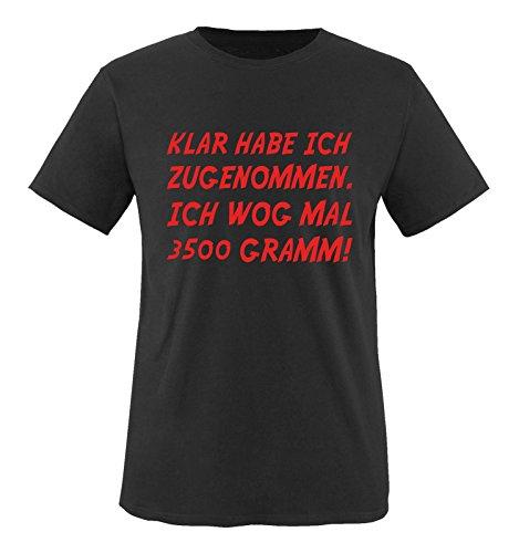 Comedy Shirts - Fitness-Shirts für Herren in Schwarz / Rot, Größe 5XL