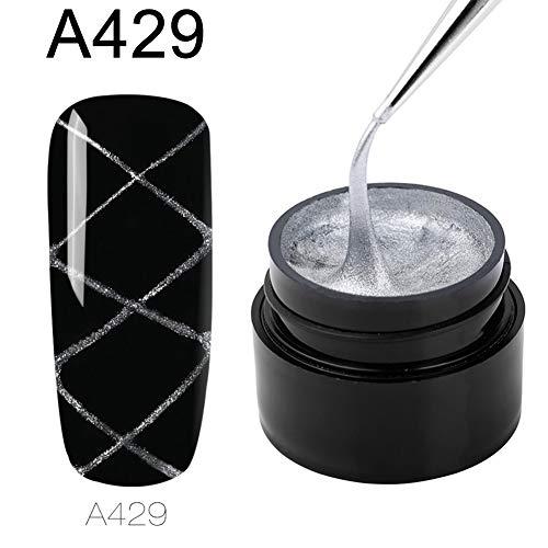 ZHOUBA 12 couleurs de gel araignée, tirez la ligne en soie, peinture à l'araignée, vernis à ongles UV