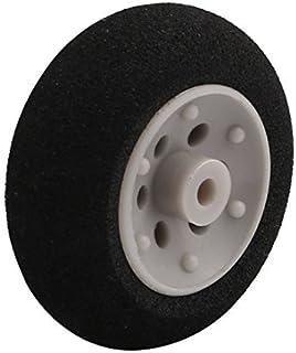 eDealMax Negro ultraligero de goma espuma DE 25 mm x 10 mm Rueda DE 2 mm