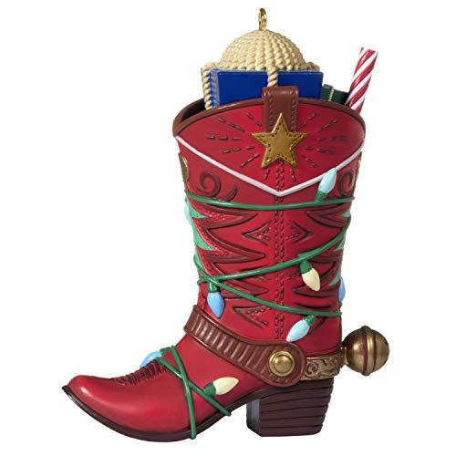 Hallmark Keepsake Ornament 2020, Boot-Kickin' Christmas Cowboy Boot